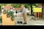 Video - Versteckte Kamera - Alter Mann fällt in Kakteen