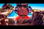 Video - Slip and Slide von einer Klippe
