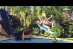 Video - Swimming Pool Tricks, Flips und High Dives