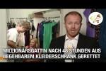 Video - Verschollene Millionärsgattin nach 48 Stunden aus begehbarem Kleiderschrank gerettet (Postillon24)