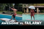 Video - Extreme Pool Surfing - People Are Awesome vs. FailArmy