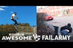 Video - Wins VS. Fails in Cyr Wheeling, Kite Boarding, Parkour & More - People Are Awesome VS. FailArmy