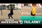 Video - Wins & Fails on the Basketball Court, Pogo Stick, Slackline & More - People Are Awesome Vs. FailArmy