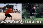 Video - Slackline Skilled Or Pained? And More Wins Vs. Fails - People Are Awesome Vs. FailArmy