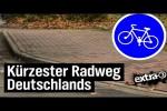 Video - Realer Irrsinn: Der wohl kürzeste Radweg Deutschlands in Cloppenburg - extra 3