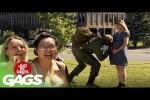 Video - Versteckte Kamera - Soldat kommt heim und sieht sein Baby das erste mal