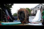 Video - Selbst gebaute Wasserrutsche mit Looping