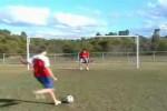 Video - Ball gehalten (mit der Fresse)