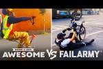 Video - Bike Wheelies & More Wins Vs. Fails - People Are Awesome VS. FailArmy