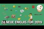 Video - 24 neue Emojis, die 2019 auf dein Smartphones kommen