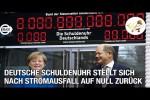 Video - Große Freude nach Stromausfall: Deutsche Schuldenuhr stellt sich auf Null zurück