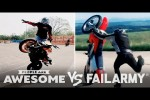 Video - Motorcycle Wheelies & More Wins VS. Fails - People Are Awesome Vs. FailArmy