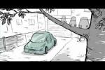 Video - Kaum ist das Auto sauber, kommen auch schon die Vögel...