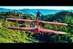 Video - Wing Walker Jumps from Airplane