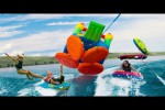Video - Bouncy House Tube Battle