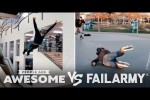 Video - Big Roller Skate Jumps & More Wins Vs. Fails - People Are Awesome VS. FailArmy