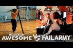 Video - Wins Vs. Fails | Pole Spins, Heavy Lifting & More - People Are Awesome VS. FailArmy
