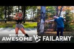 Video - Giant Jenga, Mountain Biking, Staff Spinning Wins VS Fails & More! - People Are Awesome VS FailArmy