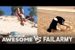 Video - Beach Backflips, Squad Tricks & More | People Are Awesome vs. FailArmy