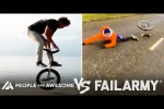 Video - Wins Vs Fails In Unicycling, Weightlifting, Horseback Riding & More - People Are Awesome Vs FailArmy