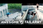 Video - Wins VS. Fails in Freerunning, Kiteboarding, Seesaws & More! - People Are Awesome VS. FailArmy