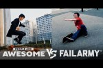 Video - Skate Tricks, Freerunning, Basketball & More Wins VS. Fails - People Are Awesome VS. FailArmy!