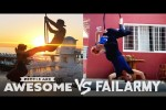 Video - Wins VS. Fails on Parachutes, Slacklines, Hoop Swings & More - People Are Awesome VS. FailArmy