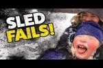 Video - Hoppalas beim Schlitten fahren