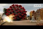 Video - 100.000 Streichhölzer und Wunderkerzen. Explosion vernichtet Corona Virus