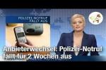 Video - Polizei-Notruf fällt für 2 Wochen aus